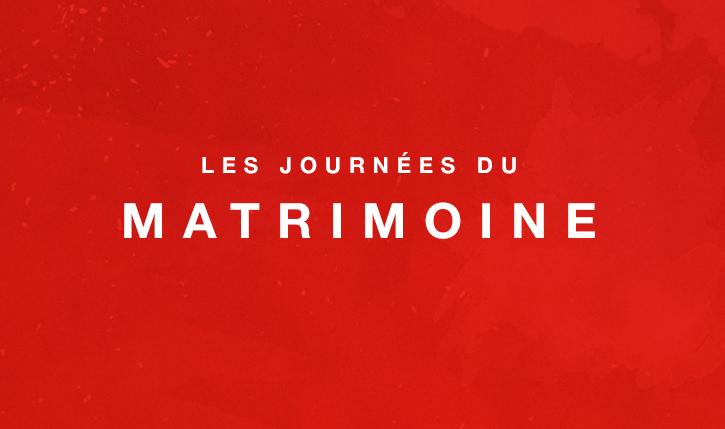 Journées du Matrimoine 19 et 20 septembre