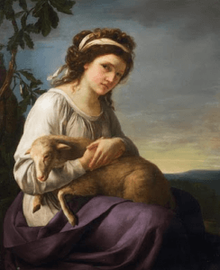 Nanine Vallain bergère ou autoportrait présumé